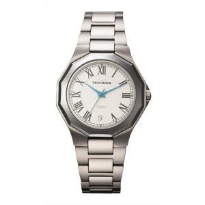 【メーカー正規品】TECHNOS テクノス メンズ 腕時計 タングステンベゼル 3針メンズクォーツ 3気圧防水 T9624CW シルバー|hapian