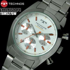 メンズ 腕時計 クロノグラフ ウォッチ 腕時計 TECHNOS テクノス hapian