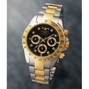 【メーカー正規品】TECHNOS テクノス 腕時計 クロノグラフ 10気圧防水 メンズ TGM640TB コンビ/ブラック|hapian
