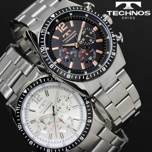 腕時計 メンズ 時計 テクノス 防水 TECHNOS クロノグラフ TSM104 hapian