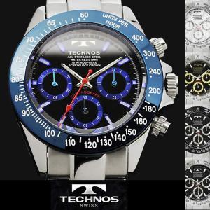 腕時計 メンズ 時計 テクノス 防水 TECHNOS クロノグラフ TSM401|hapian