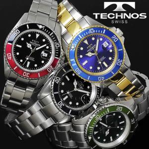 腕時計 メンズ 時計 テクノス 防水 TECHNOS ダイバーズウォッチ TSM402|hapian