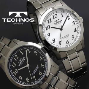 腕時計 メンズ 時計 テクノス 防水 TECHNOS チタン TSM905|hapian
