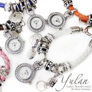 ミサンガウォッチ 腕時計 レディース レザー チャーム ブレスレット かわいい hapian