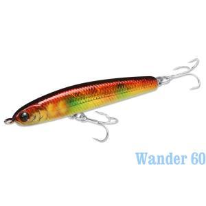 ラッキークラフト ワンダー60 -4- ニューフェイスカラー|hapinetangler