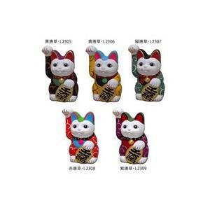 唐草 手描き 招き猫(右手) 高さ13.5cm|happeast