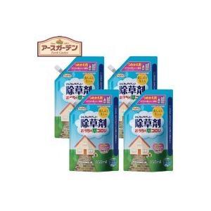 アース製薬 EGみんなにやさしい除草剤おうちの草コロリ 詰替 850ml×4セット|happeast