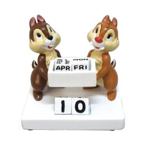 セトクラフト Disney Simple line デスクトップカレンダー チップ&デール SD-4555-270|happeast