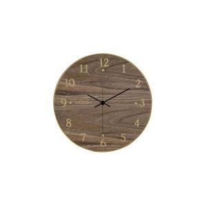 モディッシュ 木製壁掛け時計 ウォールナット G-1162B|happeast