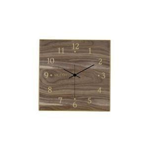 モディッシュ 木製壁掛け時計 ウォールナット G-1163B|happeast