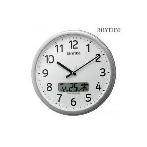 リズム時計 プログラムカレンダー 01SR 4FNA01SR19 19シルバーメタリック色(白)|happeast