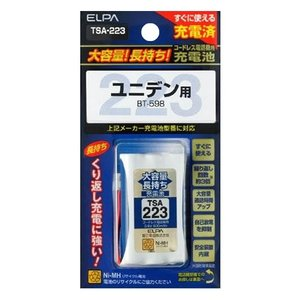 ELPA(エルパ) 大容量長持ち充電池 TSA-223 1833600|happeast