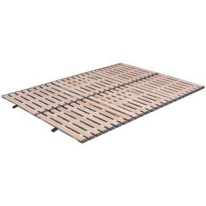 立ち上げ簡単! 軽量桐すのこベッド 3つ折れ式 セミダブル KKT-310 happeast