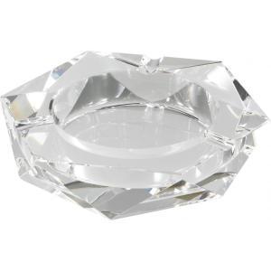卓上灰皿 クリスタルガラス灰皿 ヘキサゴンカット happeast