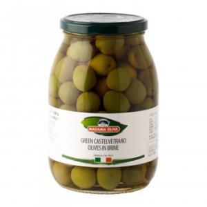 マダマオリーヴァ カステルヴェトラーノ グリーンオリーブ 種あり 1050g 6個セット 9300