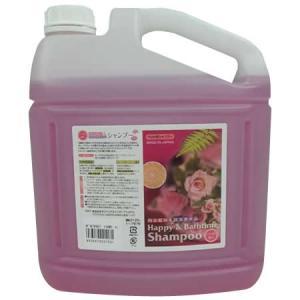 ハッピー&バスタイム ペット用シャンプー 4L バラの香り|happeast