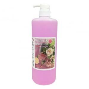 ハッピー&バスタイム ペット用入浴液 1L バラの香り|happeast