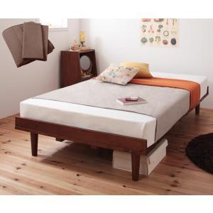 ショート丈北欧デザインベッド スタンダードポケットコイルマットレス付き フルレイアウト セミシングル フレーム幅80 ショート丈|happeast