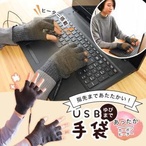 手袋 USB指まであったか手袋  サンコー TKUSBWGC