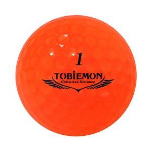 ゴルフボール ダース 6個セット 飛衛門 TOBIEMON 超高性能3ピース PREMIUM-3 スパークルオレンジ T-B3DOX6|happinesnet-stora