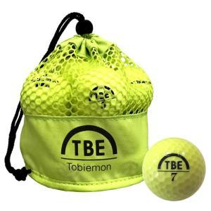 ゴルフボール 12個セット 飛衛門 TOBIEMON 2ピース カラーボール メッシュバック入り イエロー TBM-2MBYX12|happinesnet-stora