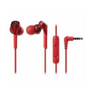 イヤホン スマートフォン用 Audio-Technica ハイレゾ音源対応 レッド ATH-CKS550XiS-RD|happinesnet-stora