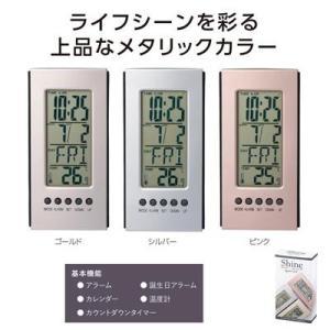 置時計 デジタル 粗品 販促品 景品 贈り物 プレゼント ノベルティ|happinesnet-stora