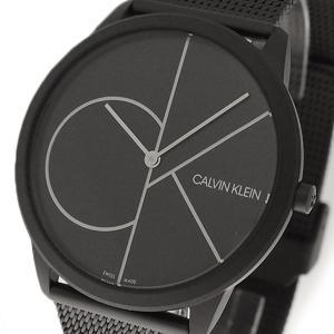 腕時計 メンズ レディース カルバンクライン CALVIN KLEIN K3M5T451 ミニマル Minimal クォーツ ブラック|happinesnet-stora