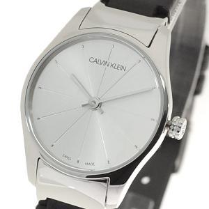 腕時計 レディース カルバンクライン CALVIN KLEIN K4D231C6 クラシック Classic Too クォーツ シルバー ブラック|happinesnet-stora