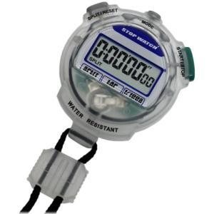 [クレファー]CREPHA デジタルストップウォッチ 3気圧防水 カウントダウン計測 クリア TEV-4013-CL|happiness-store1