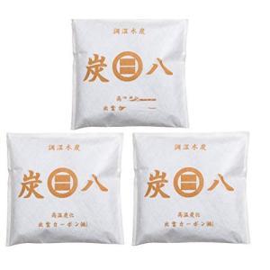 炭八 調湿木炭 スマート小袋 3個セット|happiness-store1