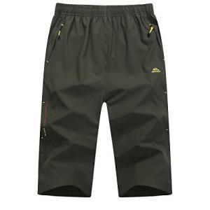 パンツ フィットネス メンズ ランニングウェア 7分丈 スポーツウェア ボードショーツ 速乾 通気 パンツ 七分丈 テニス イージーパンツ 自転車 キ happiness-store1