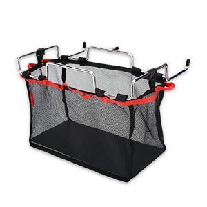 キャンプ ラック Delaman メッシュバッグ付きテーブルラック キャンプ アウトドアに適用 バスケット 手荷物収納 テーブルアクセサリー(Size happiness-store1