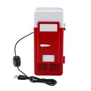 ミニ冷蔵庫 冷温庫 保温保冷庫 家庭 クーラー/ウォーマー 車載両用 卓上冷蔵庫 ポータブル USB電源 (レッド) happiness-store1