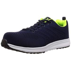 [ジーデージャパン] 安全靴 ・ 作業靴 ニット セーフティーシューズ 軽くて柔らか GD-260 ネイビー 26.5 cm 3E|happiness-store1