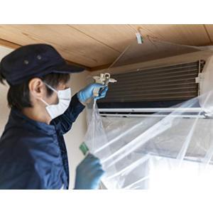 ぴったりフィット 壁掛用 エアコン 洗浄 カバー 透明 ゴム内蔵 清掃 掃除 クリーニング サイズ調整|happiness-store1