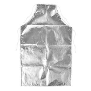 Delaman 耐熱エプロン 溶接用 1000度 耐熱性 アルミホイルエプロン 高温作業用エプロン happiness-store1