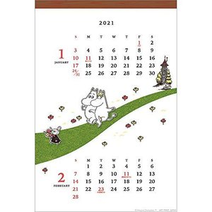 2021年 芝生/ムーミン(壁掛け)カレンダー 1000116057 vol.202 happiness-store1