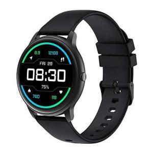 スマートウォッチ YAMAY 丸型 2021最新版 腕時計 活動量計 歩数計 カスタムダイヤル Line/Ins/Twitter/Eメール 通知 IP happiness-store1