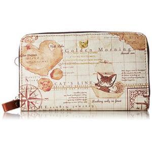 [ベベダヤン ] 財布 折財布 ラウンドファスナー 二つ折り 海図 レディース BB5-0663BE ベージュ|happiness-store1