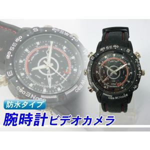 ボイスレコーダー腕時計/ダイバー型/ビデオカメラ/4GB/防水式腕時計型マルチカメラ カメラ時計SPDB-4G happiness2014