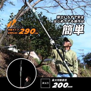 高枝切りチェーンソー 切断機 230-290c...の関連商品1