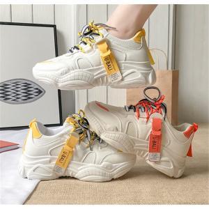 2色レディース スニーカー  ダッドスニーカー 厚底  ランニング 靴  スニーカー トレンド  ス...