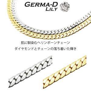 ネックレス メンズ キヘイ チェーン  50cm 60cm アクセサリー ゲルマニウム ダイヤモンド...