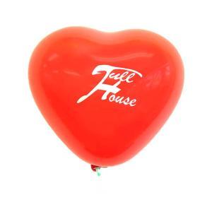オリジナル・シルク印刷ハート型ゴム風船+糸付クリップ |happy-balloon