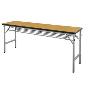 折りたたみ会議テーブル AT-1860S(棚付・ソフトエッジ巻)|happy-circle