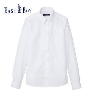 【送料無料】EASTBOY 長袖ワイシャツ イーストボーイ スクールシャツ ブロードシャツ 抗菌 防臭 シワになりにくい レディース 白 紺 ネイビー No1225000|happy-classroom