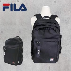 FILA 2層リュック 30L 撥水生地 Dパック デイパック バックパック 黒 ブラック 通勤 通学 happy-classroom