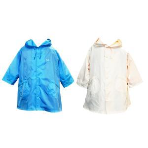 POMPKINS リボン刺繍レインコート ランドセル対応 3カラー 収納巾着袋付 アウトレット...