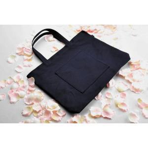 紺色布製レッスンバッグ 大 お道具箱サイズ|happy-clover